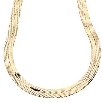 Iced out bling HERRING BONE hip hop chain - 10 mm gold