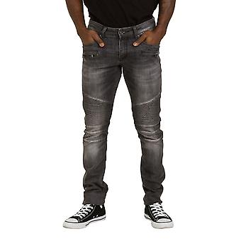 Skinny Fit Mens Jeans - Grey Slim fit Jeans with stretch Mens Pants