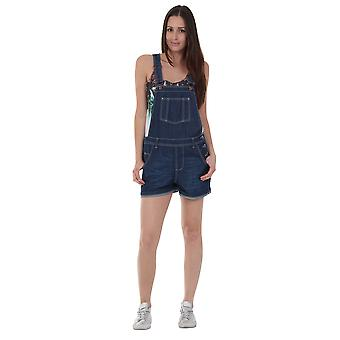 USKEES ANNA Oversized Denim Dungaree Shorts Loose Fit Bib Overalls