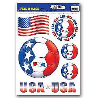 USA-Peel ' n ' entfernbaren Sticker platzieren