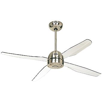 CasaFan ceiling fan Libelle Chrome with remote control