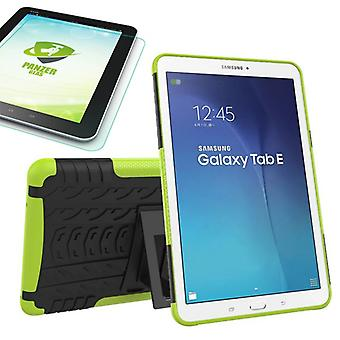 Hybrid outdoor bag Green for Samsung Galaxy tab E 9.6 SM T560 + 0.4 tempered glass