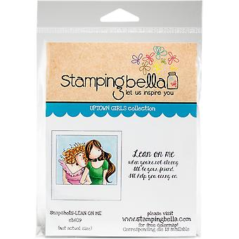 Estampillage Bella s'accrochent timbres-Uptown Girl Snapshots-Lean On Me