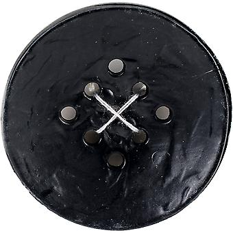 9 Hole Buttons-Large Black 1-3/4