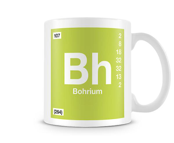 Element Symbol 107 Bh - Bohrium Printed Mug