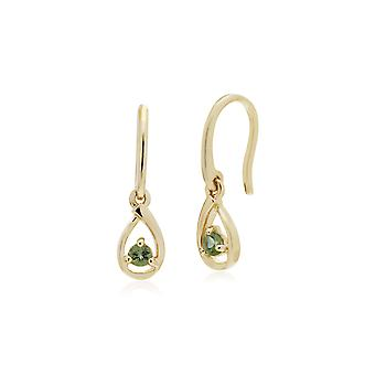 Gemondo 9ct Yellow Gold Peridot Single Stone Tear Drop Earrings