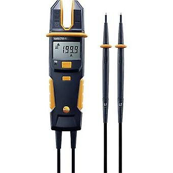 testo 755-1 Handheld multimeter, Clamp meter Digital Calibrated to: Manufacturers standards (no certificate) CAT IV 600 V, CAT III 1000 V Display (counts): 4000
