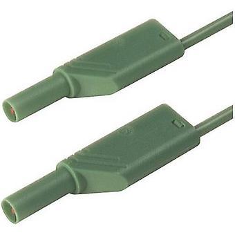 Safety test lead [Banana jack 4 mm - Banana jack 4 mm] 0.5 m Green SKS Hirschmann MLS SIL WS 50/1