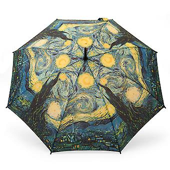 Umbrella stick umbrella motif Van Gogh night