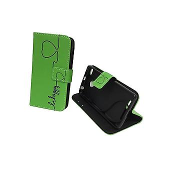 Mobile phone case pouch for mobile Xiaomi Redmi 3s be happy Green