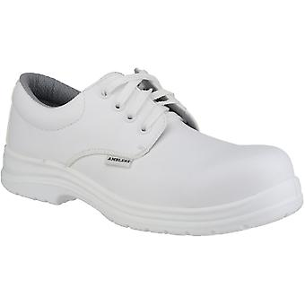 Amblers Safety Mens FS511 White Waterproof Safety Shoes White