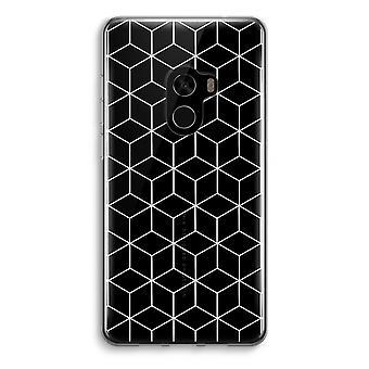 Xiaomi Mi Mix 2 Transparent Case (Soft) - Cubes black and white