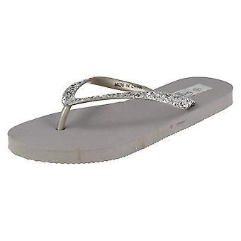 Ladies Spot on Toe Post Sandals