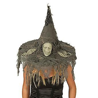 Mains squelettes de crâne chapeau de sorcière