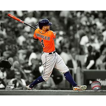George Springer Home Run Game 7 of the 2017 World Series Spotlight Photo Print