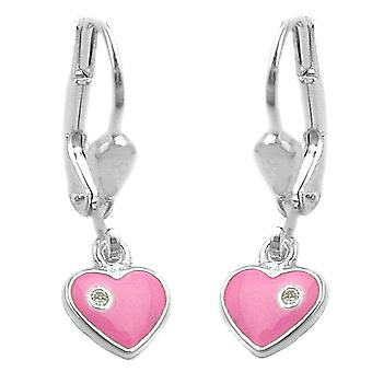 Earrings leverback heart silver 925