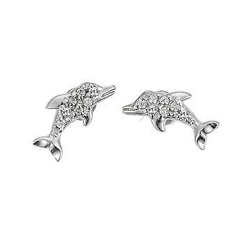 Scout children earrings silver dolphins glitter girl 262141100