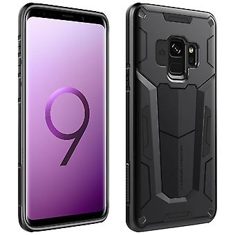 Nillkin defender shockproof rear case for Samsung Galaxy S9, 3D Design - Black