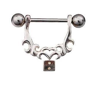 Nipple Shield Bar Piercing 925 Sterling Silber, Body-Schmuck-Würfel