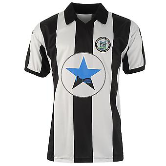 Score Draw Mens Newcastle United Football Club 1982 Home Jersey Retro Shirt