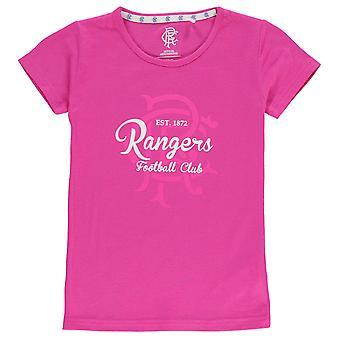 Equipo niños niñas Rangers cresta impresión T Camisa cuello Junior Tee tapa capsulada