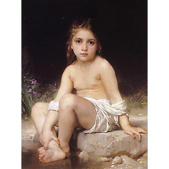Child at Bath,Adolphe William Bouguereau,50x40cm