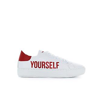 PINKO ACCANITA WHITE RED LEATEHR SNEAKER