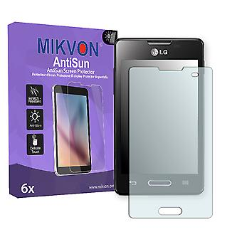 LG E440 Optimus L4 II Screen Protector - Mikvon AntiSun (Retail Package with accessories)