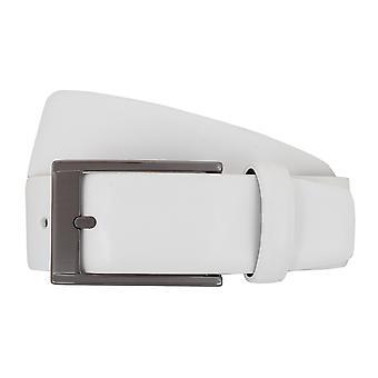 SAKLANI & FRIESE pasy paski pasek biały skórzany 7678