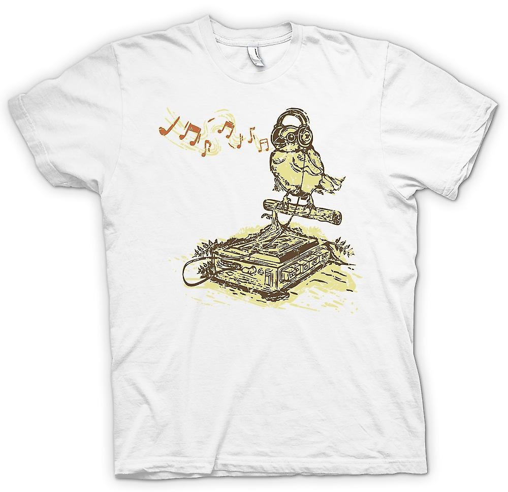 Mens t-shirt-Songbird ascolto per Tape Deck