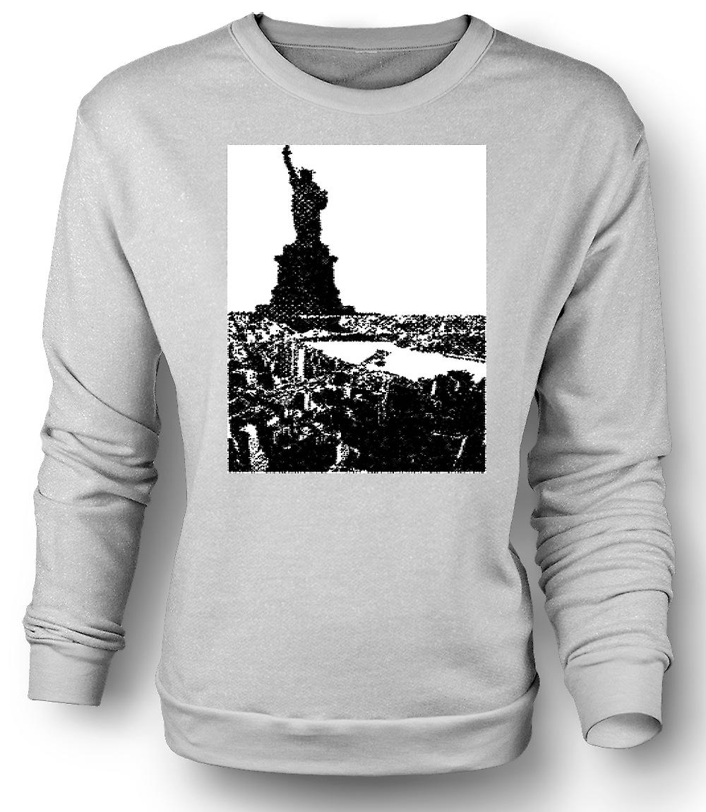 Mens Sweatshirt USA Statue of Liberty Art