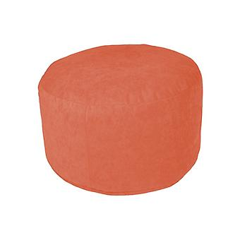 Pouf Ottoman stool around Microvelour terra 34 x 50 x 50 cm