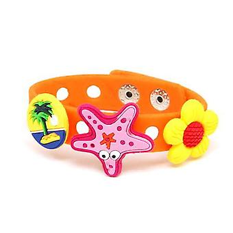 The Olivia Collection Girls Orange Plug Bracelet With Three Croc Charms