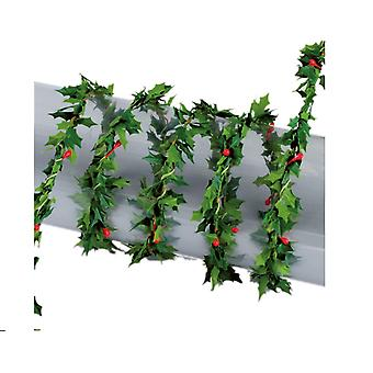 1,2 m Mini Garland voor Kerstmis ambachten en Decor - Holly en Berry