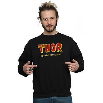 Marvel Men's Thor AKA Dr Donald Blake Sweatshirt