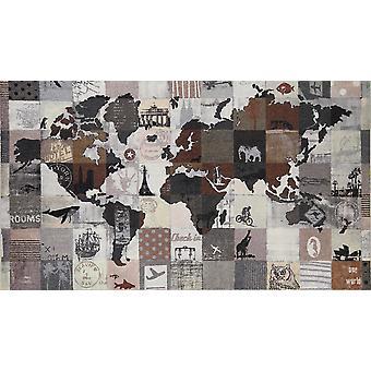 Salong lion matta en värld 120 x 200 cm tvättbar living matta