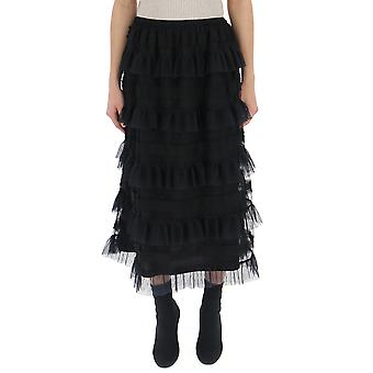 Red Valentino Black Cotton Skirt