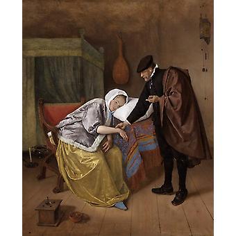 The Sick woman,Jan Steen,50x40cm