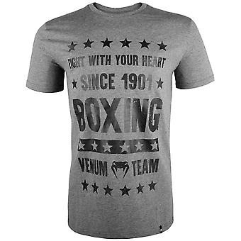 Venum Mens boxe origines T-Shirt-Heather Gray
