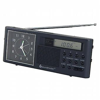 Analog AM/FM clock radio. Soundmaster