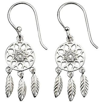 Beginnings Dream Catcher Earrings - Silver