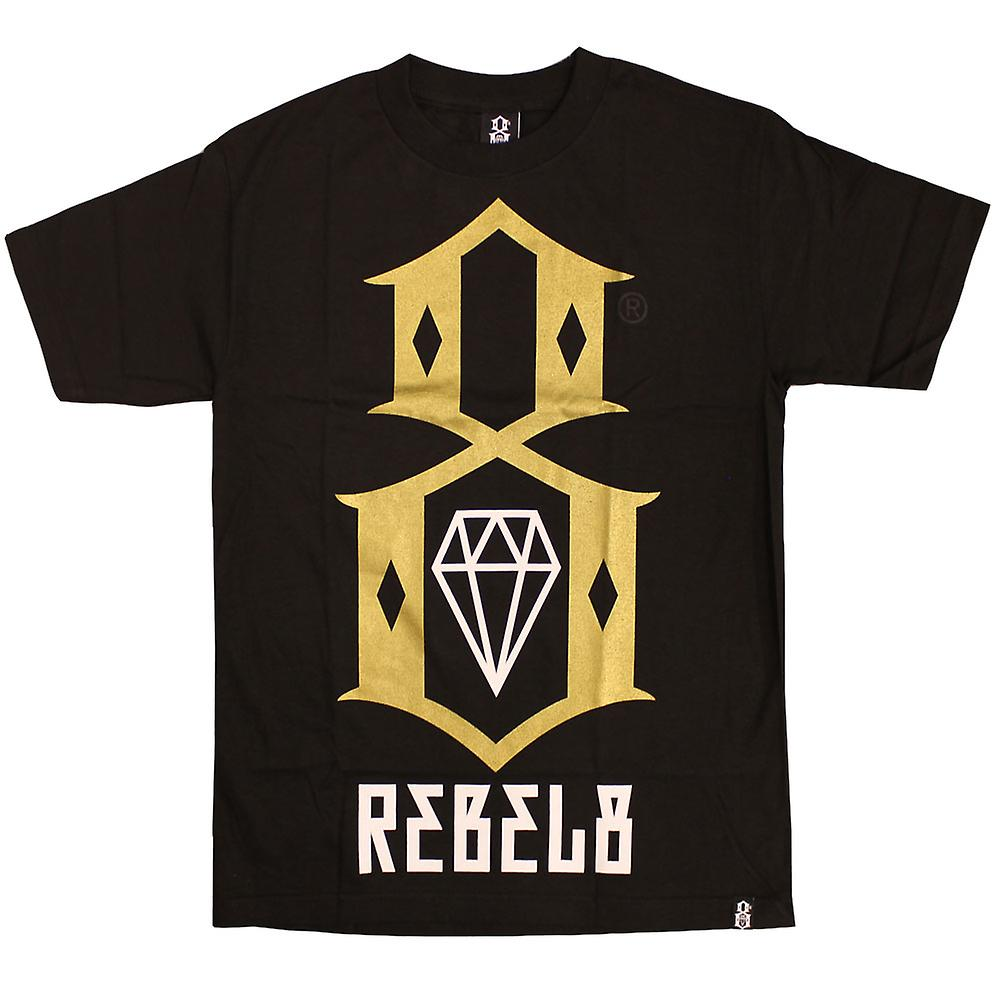 Rebel8 LogoT-shirt Black Gold