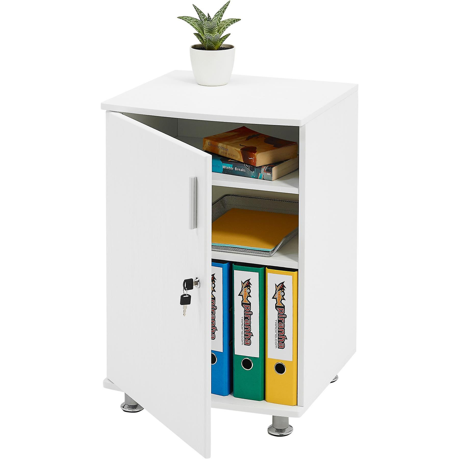 Armoire 4blanc Avec piranha Office Homeamp; De Extension Rangement Pc Desktop Serrure Bowfin tsrdBQChx