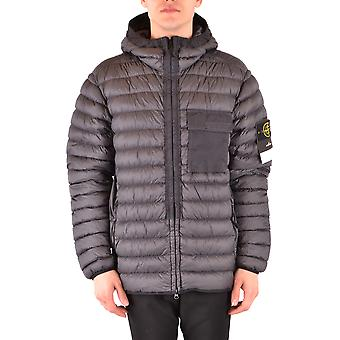 Stone Island Grey Nylon Outerwear Jacket