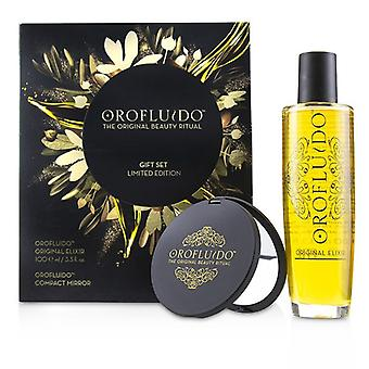 Orofluido The Original Beauty Ritual Limited Edition Gift Set: Original Elixir 100ml + Compact Mirror 2pcs