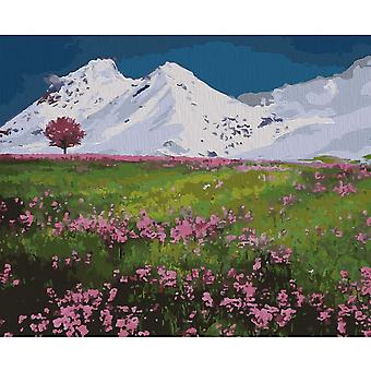 Artventura Mountain Tops Stretched Canvas Extra Large Paint By Numbers