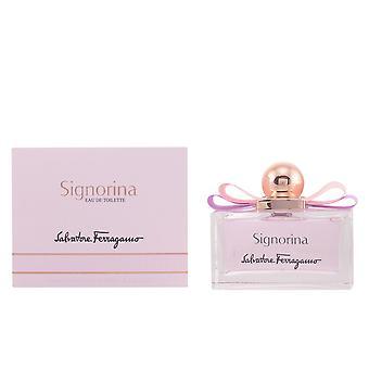 Salvatore Ferragamo Signorina Edt Spray 100 Ml voor vrouwen