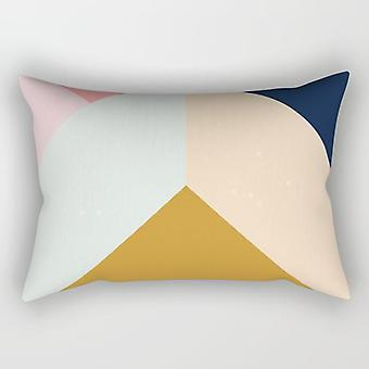Abstract geometric rectangle pillow