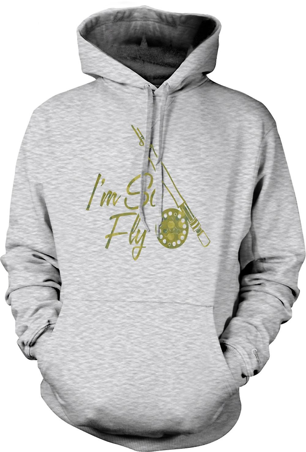 Mens Hoodie - Im So Fly - Fly Fishing