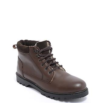 Mens Leather Boots Fleece Lined